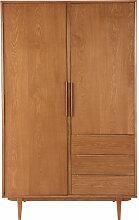 Vintage Kleiderschrank mit 2 Türen und 3