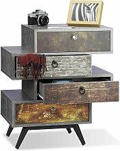 Vintage Kommode 4 Schubladen, originelles Lowboard