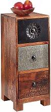 Vintage Kommode aus Akazie Massivholz mehrfarbig