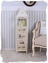 Vintage Kommode Laterne Shabby Chic Windlicht