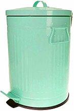 Vintage Kosmetikeimer 3 L Papierkorb Mülleimer Treteimer Abfalleimer Tischmülleimer (Türkis)