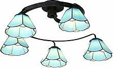 Vintage Kronleuchter Lampe Tiffany Stil Blume