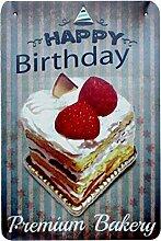 Vintage Kuchen Dessert Pie Eiscreme Blechschilder