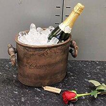Vintage Kupfer Champagner Kühler Eiskübel