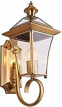 Vintage Kupfer Wandlampe Gang Balkon Wandlampe