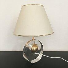 Vintage Lampe aus Acryl und Metall