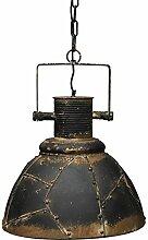 Vintage Lampe Decke Rost Factory Industrielampe Deko Wohnzimmer Ø 41 cm schwarz Metall patiniert E27 Industrielampe Hängeleuchte Retro Deckenlampe Esszimmer Industriedesign