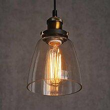 Vintage-Lampe, Glas, industrieller Retro-Stil,