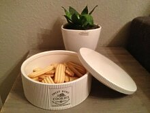 Vintage Landhaus Impressionen Keksdose Plätzchendose Gebäckdose Shabby Chic