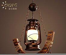 Vintage Laterne Form Halbmond dekorative Kronleuchter Lampe Cafe kreative 450 * 800 (mm)