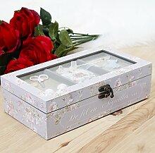 Vintage lila Nähen Craft Box, mit alle das Wesentliche