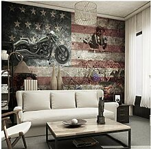 Vintage Lokomotive Amerikanische Flagge