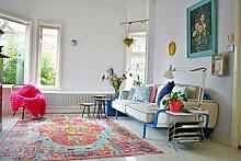 Vintage look Teppich | im angesagten Shabby Chic Look | für Wohnzimmer, Schlafzimmer, Flur etc. |(Replica 952 225 x155 cm)