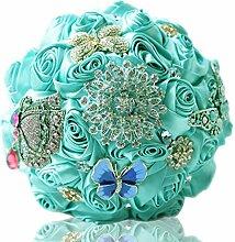 Vintage Luxus Glitzer Strass Schmetterling Brosche