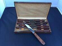 Vintage Messer mit Holzgriff von Tête de Mercure,