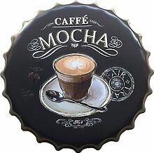 Vintage Metall Blechschild Blechbilder Plaque Wandkunst Plakat Café-Bar Pub Flaschendeckel Form - 04, l
