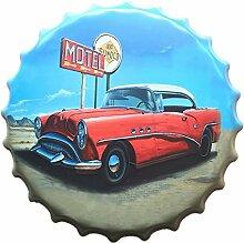 Vintage Metall Blechschild Blechbilder Plaque Wandkunst Plakat Café-Bar Pub Flaschendeckel Form - 15, l