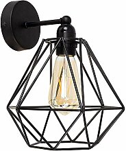 Vintage Metall Draht Käfig Lampenschirm Wandlampe