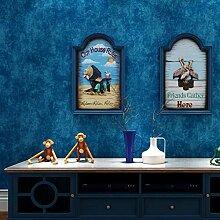 Vintage Mittelmeer Tapete Für Wände Dark Blue