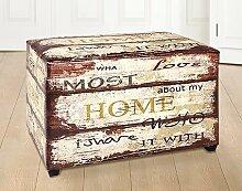Vintage Möbel Sitztruhe weiß Home als Sitzbank