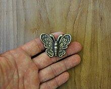 Vintage Möbelgriffe Möbelknopf Schmetterling antike Messingwaren Eisenwaren
