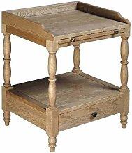 Vintage Nachttisch aus Eiche antik 50 cm breit