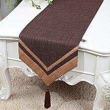 Vintage Natural Tischläufer Bett Läufer für