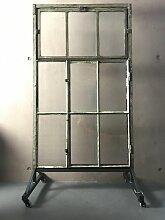 Vintage Paravent oder Raumteiler aus Glas