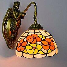 Vintage Pastoral Style Wandlampe Tiffany Style