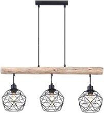 Vintage Pendel Decken Lampe Holz Balken Wohn Ess