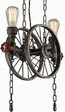 Vintage Pendelleuchte Loft Bar Hängeleuchte Rad