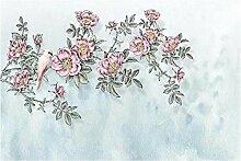 Vintage Pink 3D Tapeten -430Cmx310Cm Blume