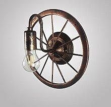 Vintage Rad Wandleuchte Industrie Wind Restaurant