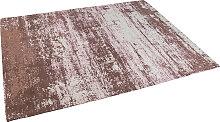 Vintage rechteckiger Teppich alt rosa 160 x 230cm