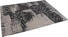 Vintage rechteckiger Teppich schwarz/grau 160 x