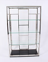 Vintage Regal aus Chrom & Glas