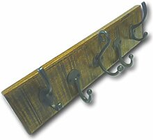 Vintage Retro Massiv Holz Garderobe dickes