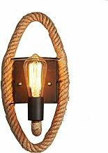Vintage Retro Wandlampe Amerikanische Seil
