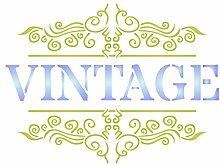 Vintage Schablone-wiederverwendbar French