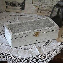 Vintage Schatulle Kiste Holzschatulle Box Landhaus