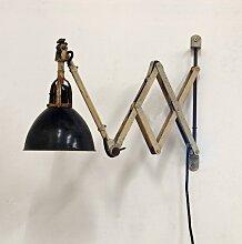 Vintage Scheren-Wandlampe von Curt Fischer für