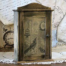 Vintage Schlüsselkasten 29,5 x 20 cm 6 Haken