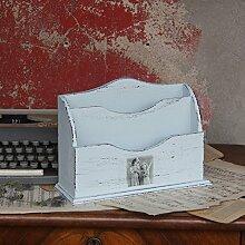 Vintage Schreibtischablage Briefablage Holzablage