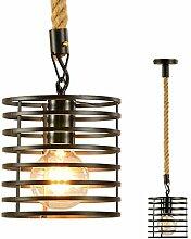 Vintage Seilampe Kronleuchter Retro Hängeleuchte