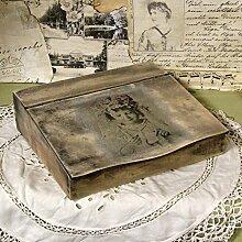 Vintage Sekretär 28x26,5x7cm Organizer Ablage