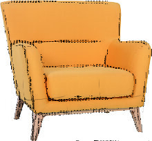 Vintage-Sessel Gelb MARKUS