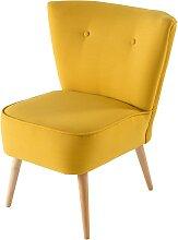 Vintage-Sessel, gelb Scandinave