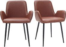 Vintage-Sessel Hellbraun mit schwarzen
