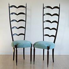 Vintage Sessel mit Latten-Rückenlehne von Paolo