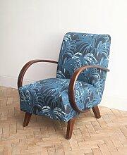 Vintage Sessel mit Palmen-Motiven, 1920er